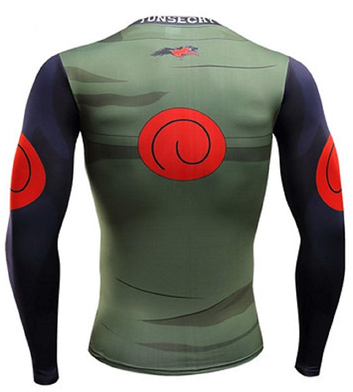 Compression Layer Adult Long Kakashi Sleeve T Base Top Shirt Vest Tight T3JFKl1c